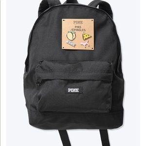 Mini Pink Backpack with pins
